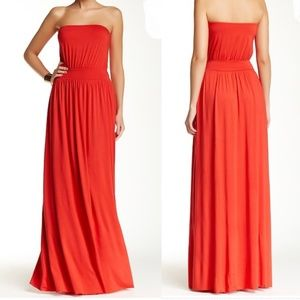 NWOT Rachel Pally strapless maxi dress. Red. XS.